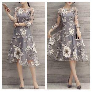Mistook floral chiffon swing midi dress
